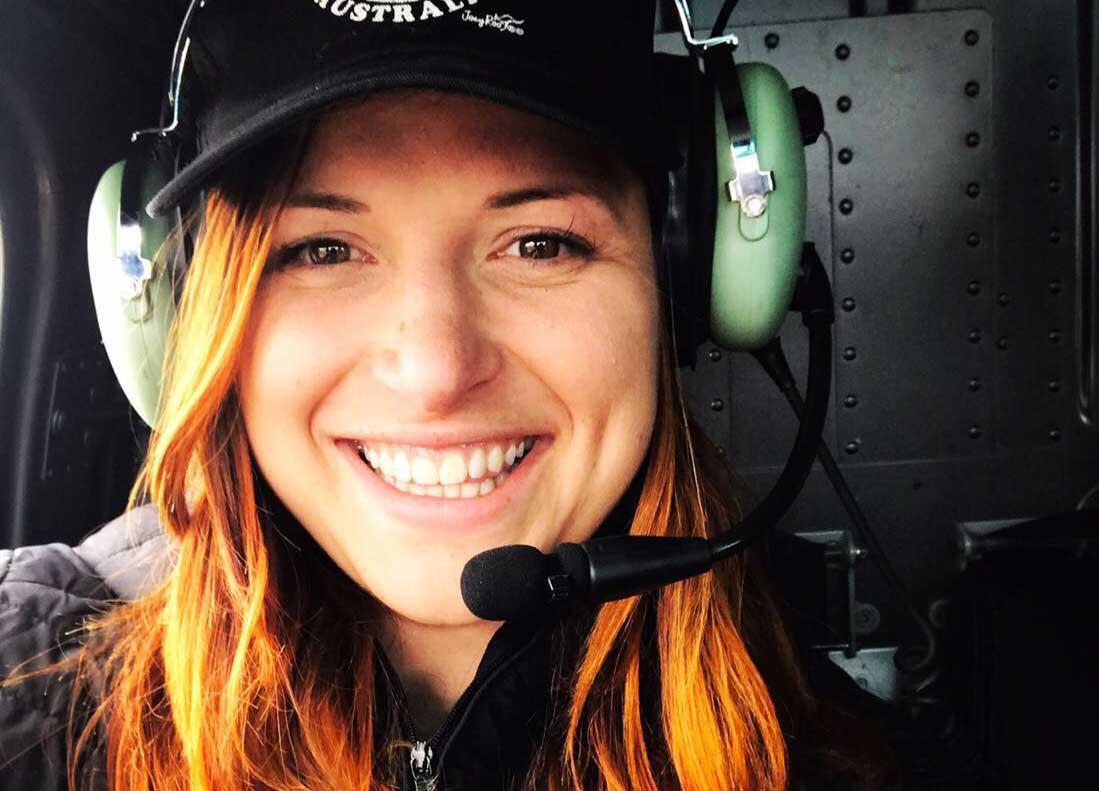 Sara Clabassi in aereo
