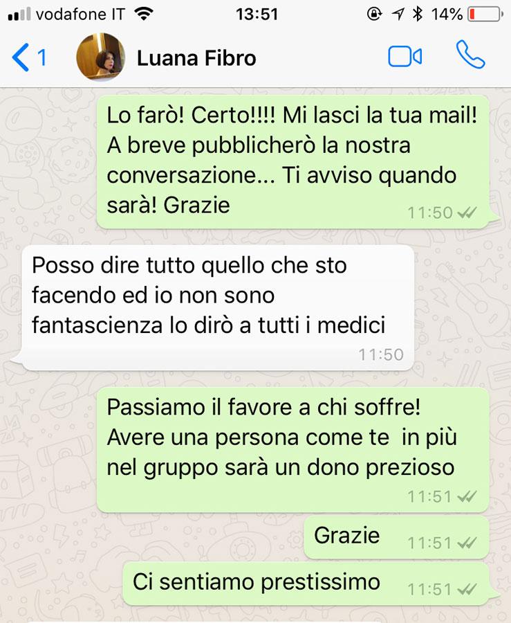 fibromialgia conversazione whatsapp