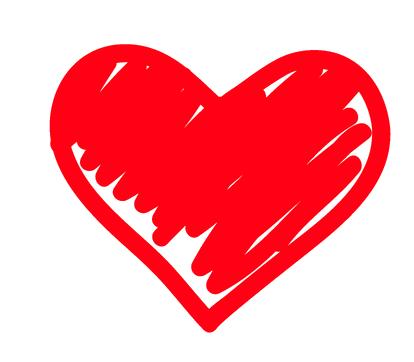 icona di un cuore disegnato
