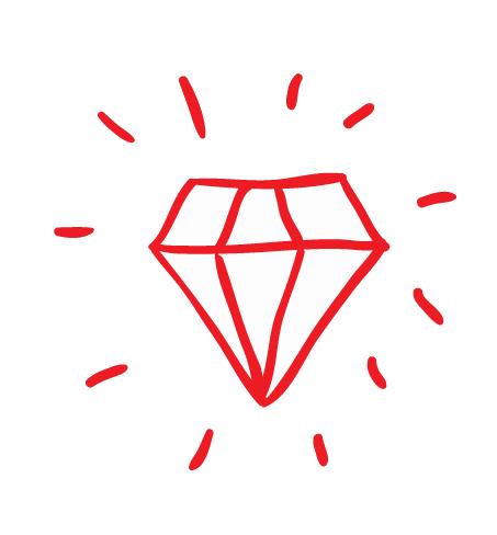 icona di un diamante