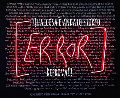 codice errore