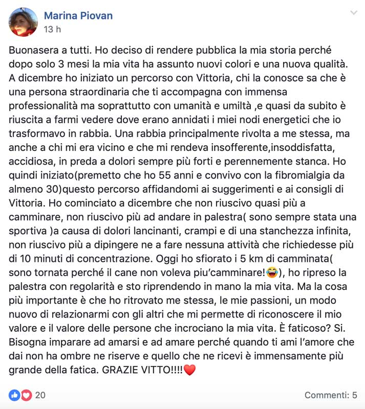 Testimonianza di Marina