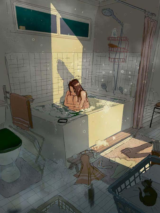 depressione in vasca da bagno