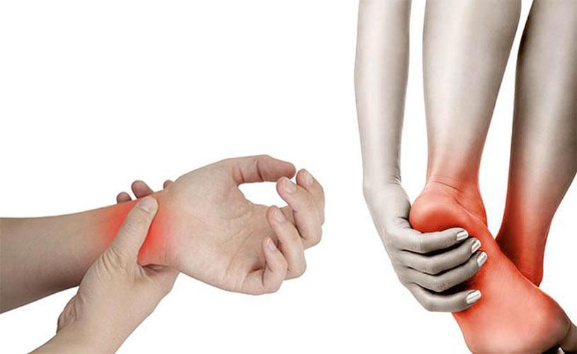 dolori a piedi e polso