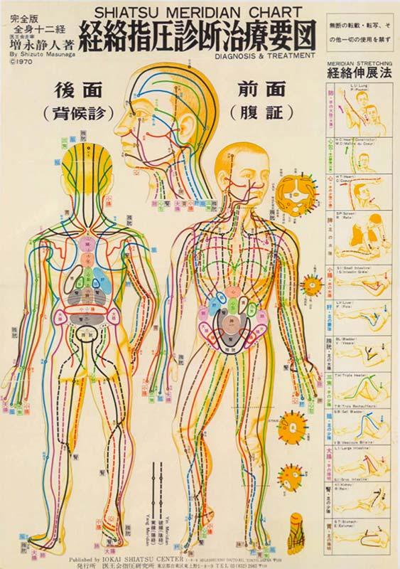 meridiani energetici del corpo